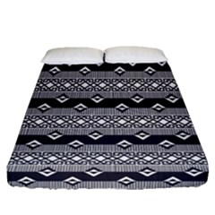 Native American Pattern 9 Fitted Sheet (queen Size)