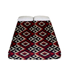 Native American 10 Fitted Sheet (full/ Double Size) by Cveti