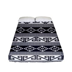 Native American 12 Fitted Sheet (full/ Double Size) by Cveti