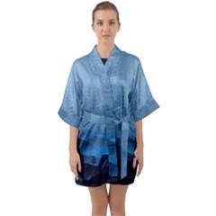 Blue Mountain Quarter Sleeve Kimono Robe