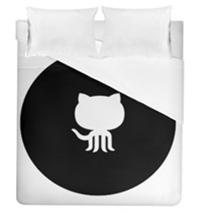 Logo Icon Github Duvet Cover (queen Size) by Celenk
