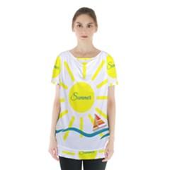 Summer Beach Holiday Holidays Sun Skirt Hem Sports Top by Celenk