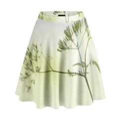 Spring Plant Nature Blue Green High Waist Skirt by Celenk