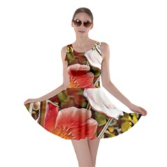 Flower Hostanamone Drawing Plant Skater Dress
