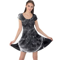 Space Universe Earth Rocket Cap Sleeve Dress by Celenk