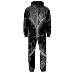 Space Universe Earth Rocket Hooded Jumpsuit (men)  by Celenk