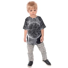 Space Universe Earth Rocket Kids Raglan Tee by Celenk