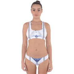 Time Water Movement Drop Of Water Cross Back Hipster Bikini Set by Celenk