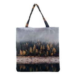 Trees Plants Nature Forests Lake Grocery Tote Bag by Celenk