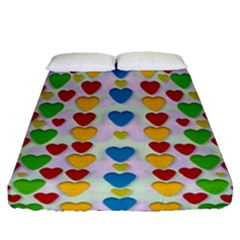 So Sweet And Hearty As Love Can Be Fitted Sheet (queen Size)