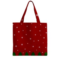 Christmas Pattern Zipper Grocery Tote Bag by Valentinaart