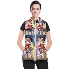 Vintage Santa Claus  Women s Puffer Vest