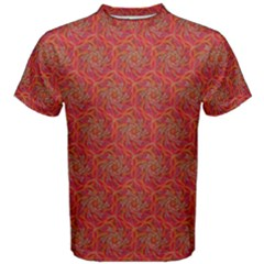 Whirligig Pattern Hand Drawing Orange 01 Men s Cotton Tee by Cveti