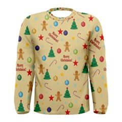 Christmas Pattern Men s Long Sleeve Tee