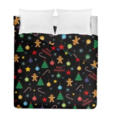 Christmas Pattern Duvet Cover Double Side (full/ Double Size) by Valentinaart