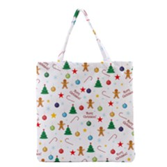 Christmas Pattern Grocery Tote Bag by Valentinaart