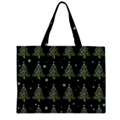 Christmas Tree   Pattern Zipper Large Tote Bag by Valentinaart