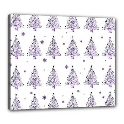 Christmas Tree   Pattern Canvas 24  X 20  by Valentinaart