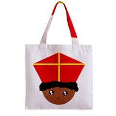 Cutieful Kids Art Funny Zwarte Piet Friend Of St  Nicholas Wearing His Miter Grocery Tote Bag