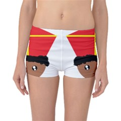 Cutieful Kids Art Funny Zwarte Piet Friend Of St  Nicholas Wearing His Miter Boyleg Bikini Bottoms by yoursparklingshop