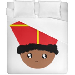 Cutieful Kids Art Funny Zwarte Piet Friend Of St  Nicholas Wearing His Miter Duvet Cover (california King Size) by yoursparklingshop