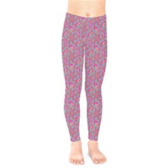 Whirligig Pattern Hand Drawing Pink 01 Kids  Legging by Cveti