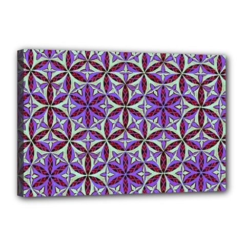 Flower Of Life Hand Drawing Pattern Canvas 18  X 12  by Cveti