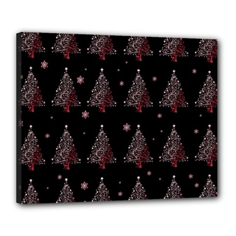 Christmas Tree   Pattern Canvas 20  X 16  by Valentinaart