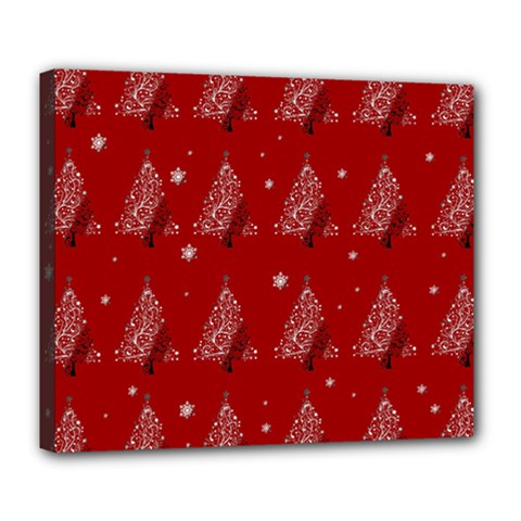 Christmas Tree   Pattern Deluxe Canvas 24  X 20   by Valentinaart