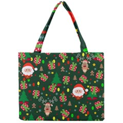 Santa And Rudolph Pattern Mini Tote Bag by Valentinaart