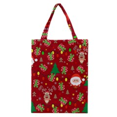 Santa And Rudolph Pattern Classic Tote Bag by Valentinaart
