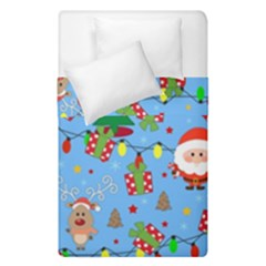 Santa And Rudolph Pattern Duvet Cover Double Side (single Size) by Valentinaart