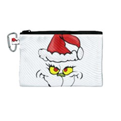 Grinch Canvas Cosmetic Bag (m) by Valentinaart
