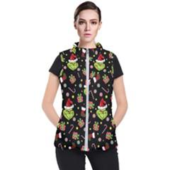 Grinch Pattern Women s Puffer Vest