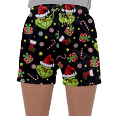 Grinch Pattern Sleepwear Shorts