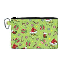 Grinch Pattern Canvas Cosmetic Bag (m)