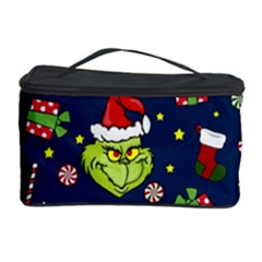 Grinch Pattern Cosmetic Storage Case by Valentinaart