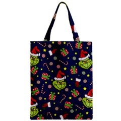 Grinch Pattern Zipper Classic Tote Bag by Valentinaart