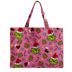 Grinch Pattern Zipper Mini Tote Bag by Valentinaart