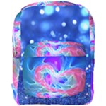 alien blue sparkle full print backpack
