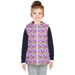 Hexagon Cube Bee Cell Pink Pattern Kid s Puffer Vest