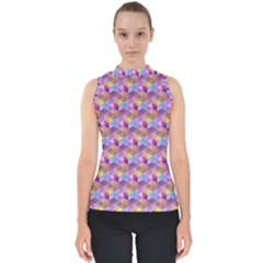 Hexagon Cube Bee Cell Pink Pattern Shell Top