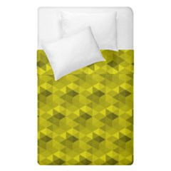 Hexagon Cube Bee Cell  Lemon Pattern Duvet Cover Double Side (single Size)