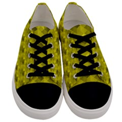 Hexagon Cube Bee Cell  Lemon Pattern Men s Low Top Canvas Sneakers