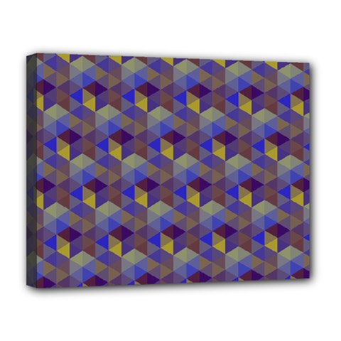 Hexagon Cube Bee Cell Purple Pattern Canvas 14  X 11  by Cveti