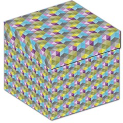 Hexagon Cube Bee Cell 1 Pattern Storage Stool 12   by Cveti