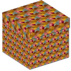 Hexagon Cube Bee Cell 2 Pattern Storage Stool 12   by Cveti