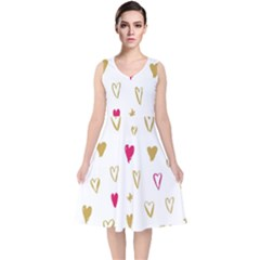 All Cards 06 V Neck Midi Sleeveless Dress
