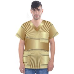 Gold8 Men s V Neck Scrub Top by 8fugoso