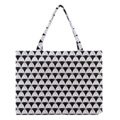 Diamond Pattern White Black Medium Tote Bag by Cveti